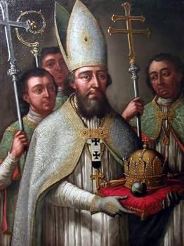Erkebiskop Astrik, maleri fra 1700-tallet i erkebispedømmet Kalocsas arkiv