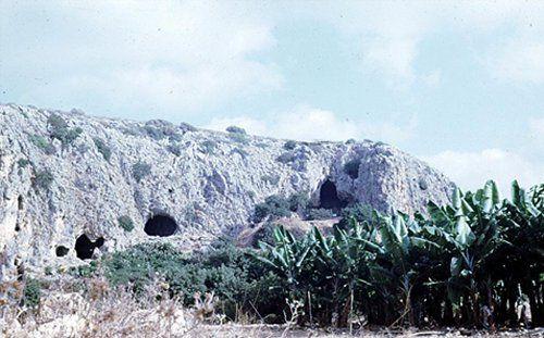 A Tabun-barlang Izraelben.