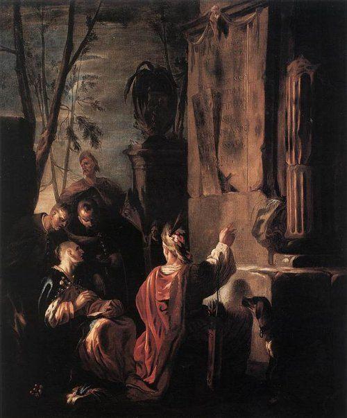 Szkíták Ovid sírjánál. Készült 1640 körül. Johann Heinrich Schönfeld