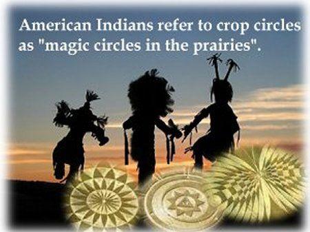 """Az amerikai indiánok a gabonaköröket a """"prérik mágikus köreiként"""" emlegetik."""