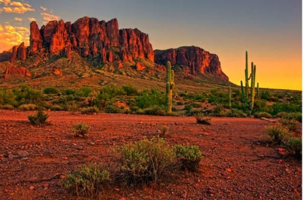 A legenda szerint lehetséges, hogy az arizonai Sonoran-sivatagban található az Arany hét városa. Photo source: BigStockPhoto