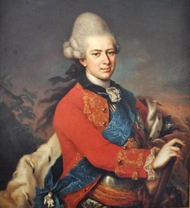 Egy Hessen-Casseli Károly hercegről készült festmény, amit Anton Wilhelm Tischbein (1730-1804) készített. (Wikipedia.org)