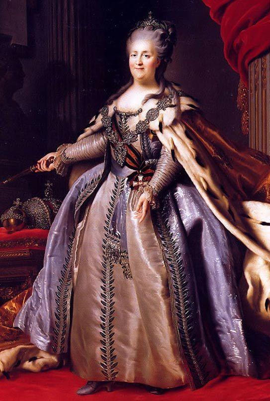 Saint-Germain-ről azt beszélték, hogy ő segítette hozz Nagy Katalint Oroszország uralkodói székéhez. F.Rokotov Roslin nyomán (Az 1780-as évekből, Hermitage). (Wikimedia Commons)