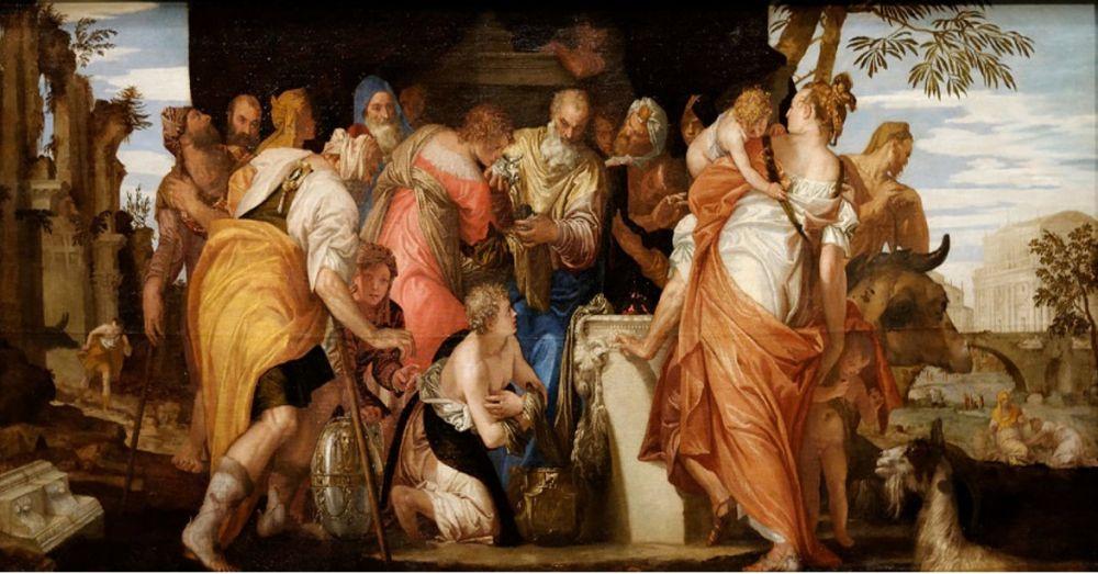 Dávid királyt Sámuel próféta keni fel azért, hogy Izrael eljövendő királya legyen. Sámuel prófétáról egyesek úgy vélik, hogy Saint Germain Felemelkedett Mester volt. A képet 1555 körül készítette Pablo Veronese. (Wikimedia Commons)