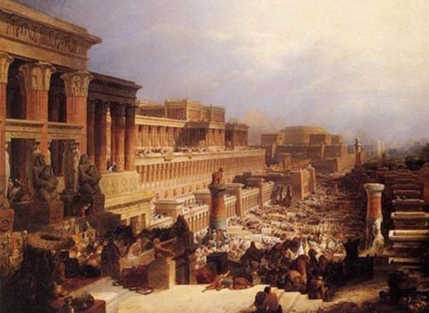 """Mózes második könyve: """"Az izraeliták útra kelése"""". David Roberts, 1829. WikipediaCommons"""