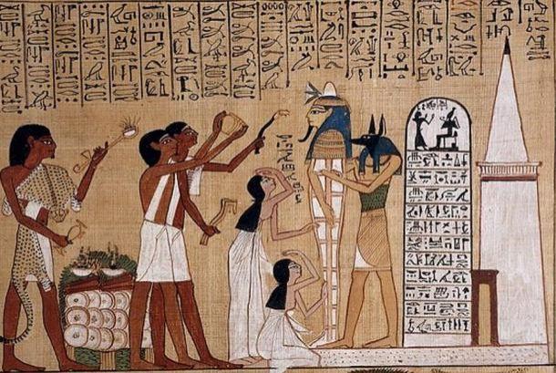 A szájmegnyitás rituáléjának az ábrázolása (Wikimedia Commons)