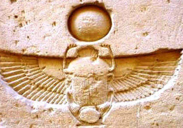 Khepri szkarabeusz szimbóluma