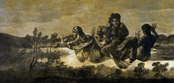 A Sors három istennője Francisco de Goya ábrázolásában. (Wikimedia Commons)