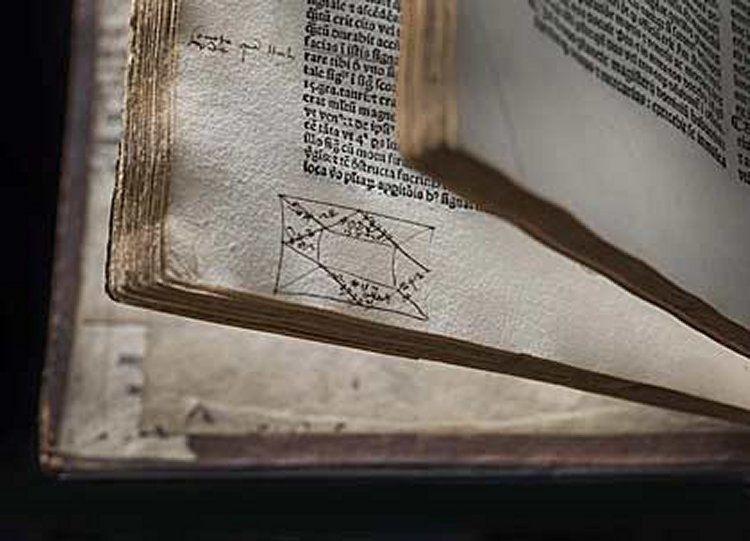 John Dee elveszett könyvtára: Ptolemaiosz, Quadriparti, 1519, horoszkóppal. © RCP and John Chase