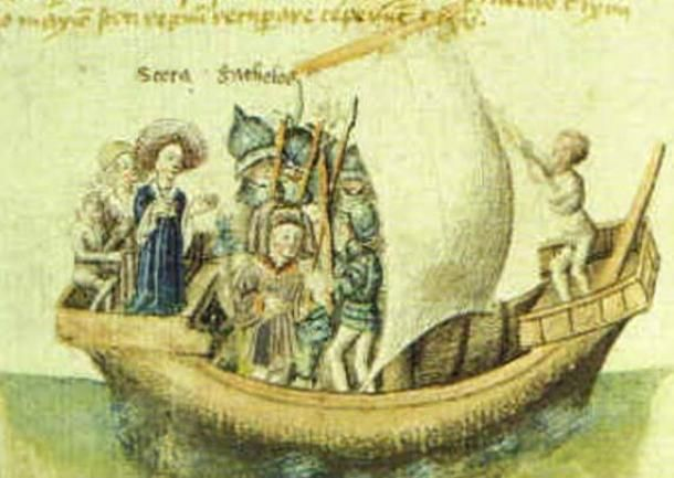 Scota utazása Egyiptomból induló utazásának 15. századi ábrázolása. ( Public Domain )