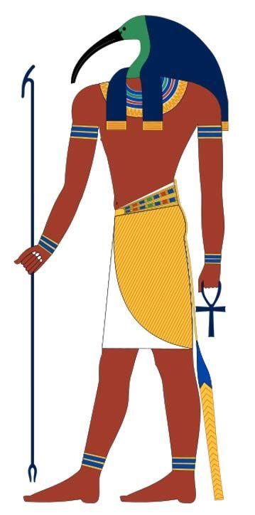 Thot, az ókori egyiptomi isten, akit gyakran íbiszfejű emberként ábrázoltak. ( CC BY-SA 4.0 )