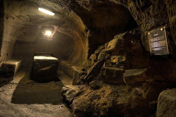 A Gilmerton-barlang belülről ( CC BY SA 2.0 )