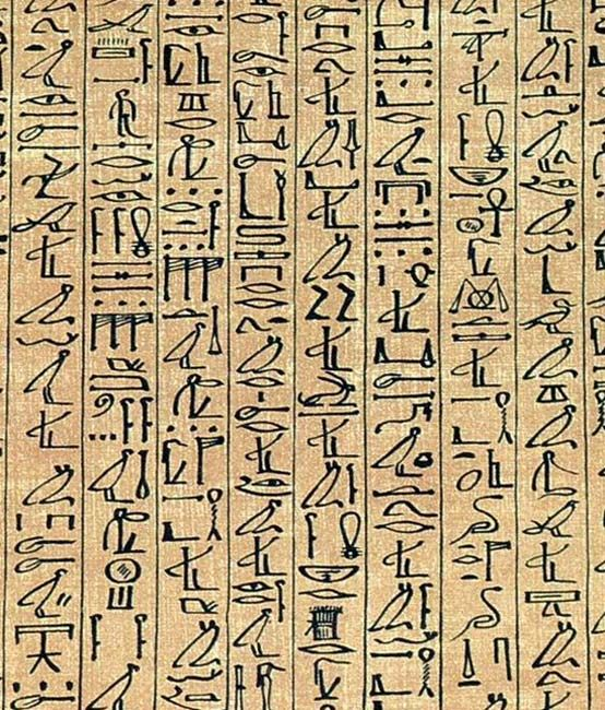 Ani papiruszának a részlete a kurzív hieroglifákat mutatja. (Public Domain)