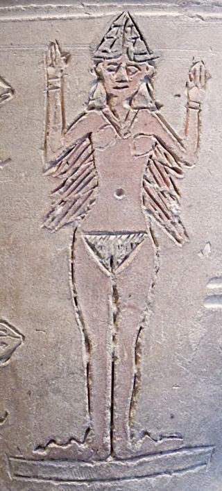 Inanna edénybe karcolt ábrázolása az i. e. 2. évezred első feléből © Marie-Lan Nguyen / Wikimedia Commons
