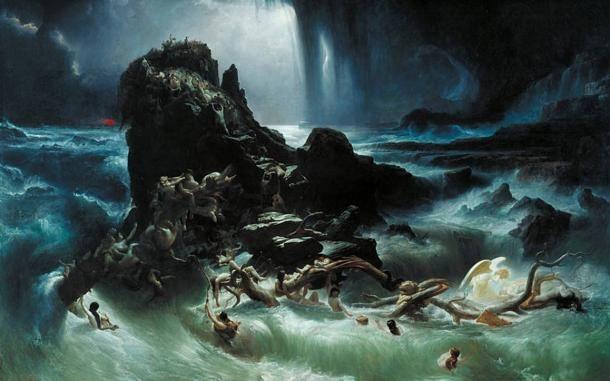Az özönvíz by Francis Danby, 1840. (Wikimedia Commons)