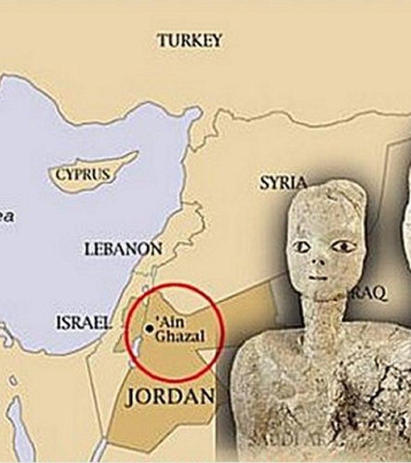 Több ezer éves titkokat rejtő szobrok Jordániából