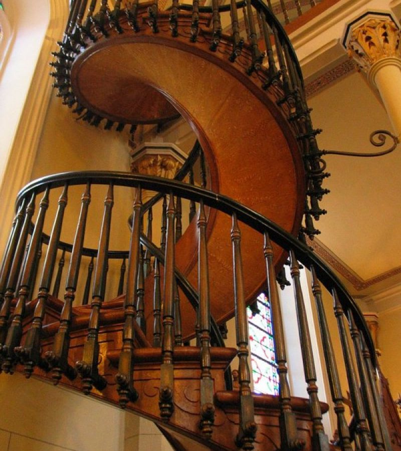 A Lorettói Kápolna lépcsője – Különös, csigaspirál szerkezet